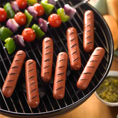 Hot Dogs on Grill image